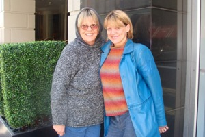 Bonnie and Bekka, in New York for The Beacon show
