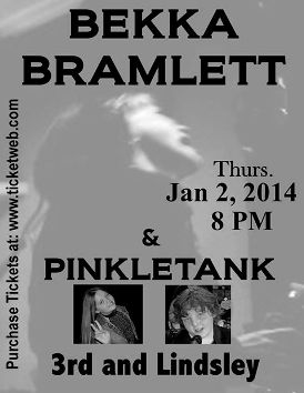 Bekka Bramlett show ad, 2 January 2014