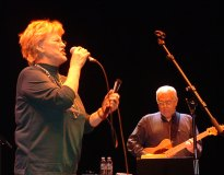 Bonnie & Jimmy Johnson at the Barbican rehearsal, London, 2005