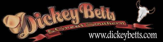 Dickey Betts & Great Southern website banner