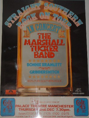 Straight Southern Rock tour poster