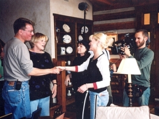 Bonnie and Bekka on The Real Rosanne show, Nashville, 2003